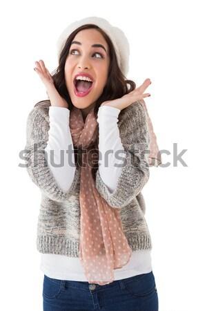 Portrait of a astonished brunette  Stock photo © wavebreak_media