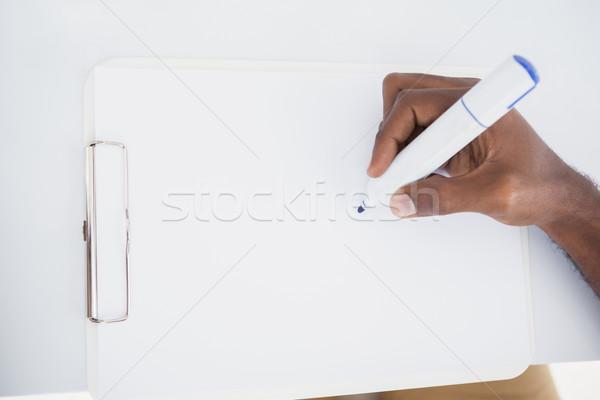 Hand Geschäftsmann schriftlich Merkzettel Marker Büro Stock foto © wavebreak_media