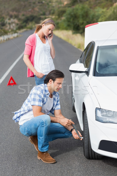 Couple after a car breakdown Stock photo © wavebreak_media