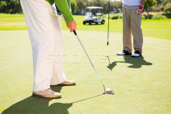 Golfing friends teeing off  Stock photo © wavebreak_media