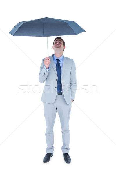 Businessman sheltering under umbrella Stock photo © wavebreak_media