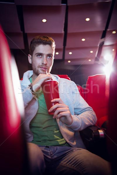 Feliz moço assistindo filme cinema filme Foto stock © wavebreak_media