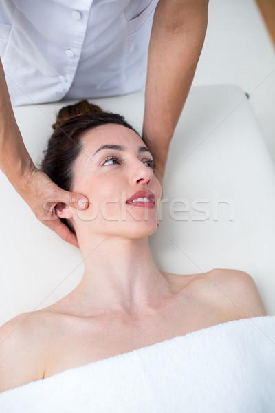 Pescoço massagem médico escritório mulher saúde Foto stock © wavebreak_media