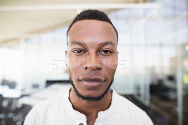 Close up portrait of businessman with stubble Stock photo © wavebreak_media