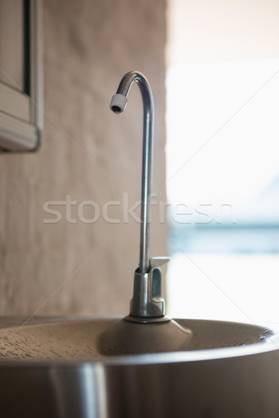 Close up of faucet on sink Stock photo © wavebreak_media