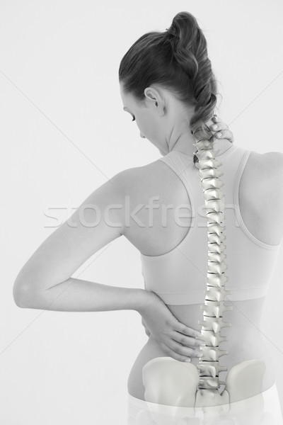 Digitally generated image of female suffering from neck pain Stock photo © wavebreak_media