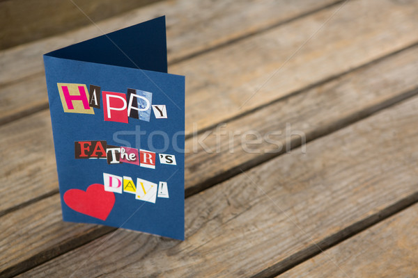 High angle view of happy fathers day greeting card on table Stock photo © wavebreak_media
