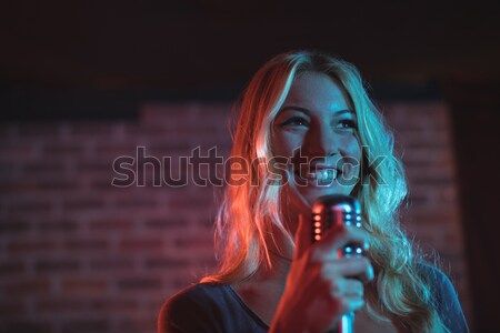 Female singer performing at music concert Stock photo © wavebreak_media
