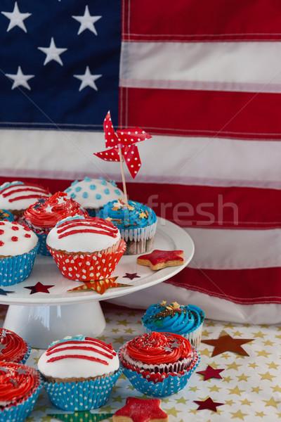 Primer plano decorado cuarto bandera de Estados Unidos mesa Foto stock © wavebreak_media