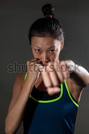 определенный женщину бокса фитнес студию Сток-фото © wavebreak_media
