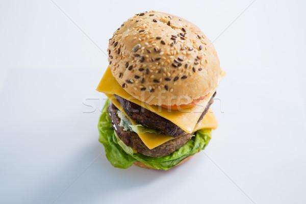 Hambúrguer legumes queijo tabela ver Foto stock © wavebreak_media