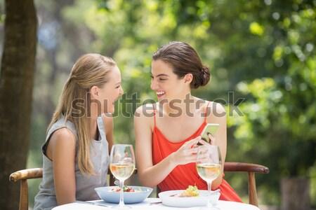 Felice amici altro pasto ristorante donna Foto d'archivio © wavebreak_media