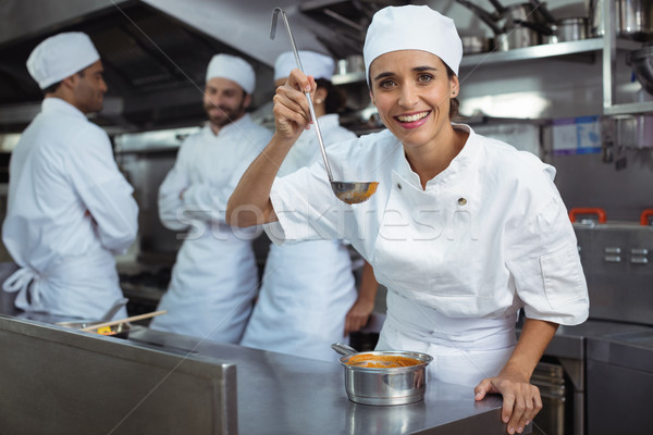 Chef proeverij voedsel lepel keuken restaurant Stockfoto © wavebreak_media