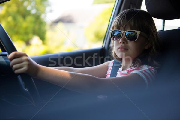 Condução carro feliz menina criança Foto stock © wavebreak_media