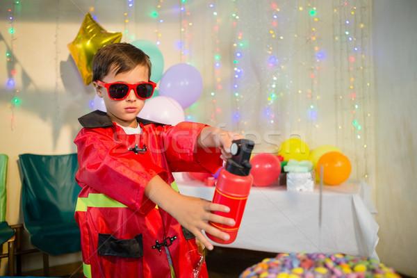 かわいい 少年 消防 誕生日パーティー ホーム 愛 ストックフォト © wavebreak_media