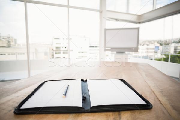 Planner in front of meeting room Stock photo © wavebreak_media