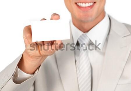 Homme carte vierge blanche carte t-shirt Photo stock © wavebreak_media