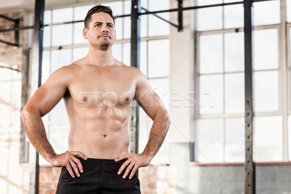 Shirtless muscular serious man posing Stock photo © wavebreak_media