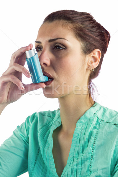 Donna asma salute malati spray paziente Foto d'archivio © wavebreak_media