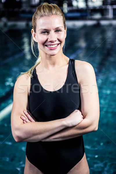 Portrait of a woman swimmer looking the camera Stock photo © wavebreak_media