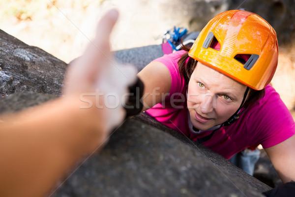 Man helping woman  Stock photo © wavebreak_media