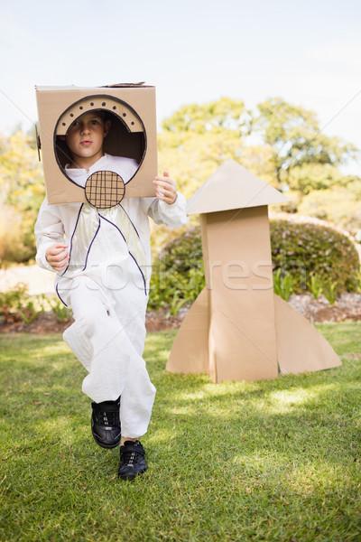 愛らしい 少年 宇宙飛行士 公園 女性 ツリー ストックフォト © wavebreak_media