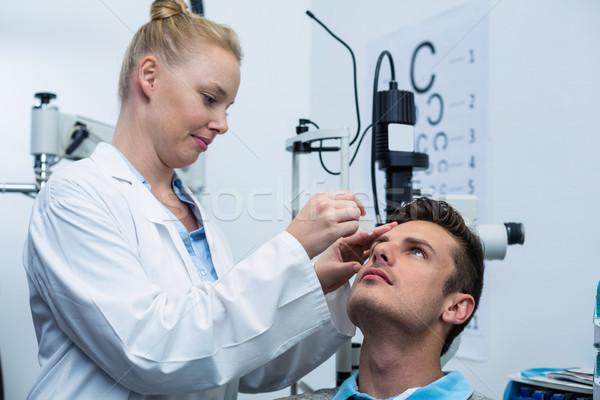 женщины оптик глаза падение пациент глазах Сток-фото © wavebreak_media