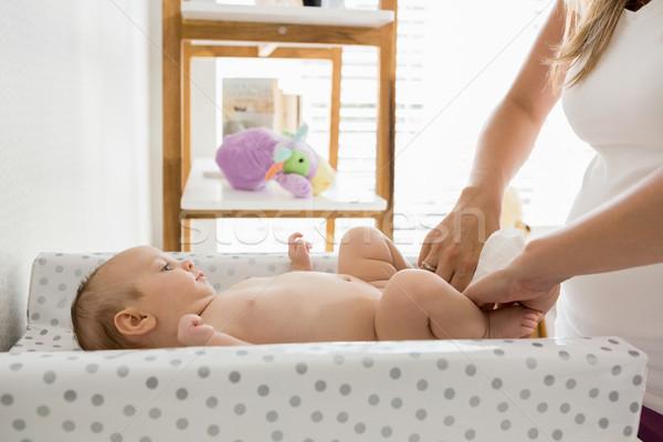 Moeder luier baby home vrouw schone Stockfoto © wavebreak_media