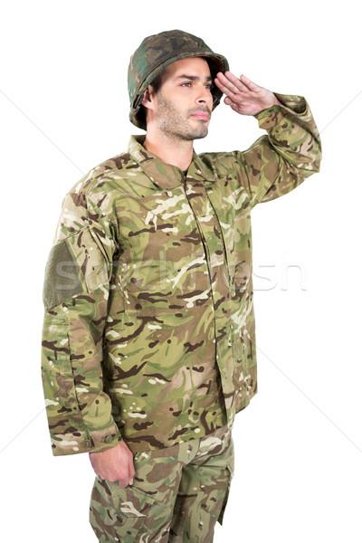 Asker adam güvenlik savaş top özgürlük Stok fotoğraf © wavebreak_media