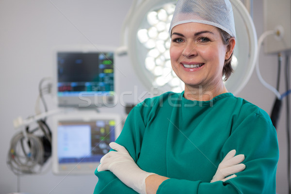Portrait of a female surgeon standing in operation theater Stock photo © wavebreak_media