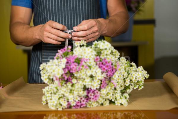 Photo stock: Homme · fleuriste · fleur