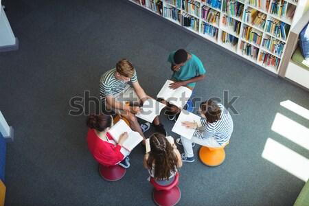 View attento studenti studiare biblioteca scuola Foto d'archivio © wavebreak_media