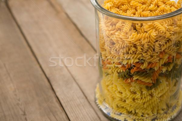 Pasta glas container patroon vakantie lunch Stockfoto © wavebreak_media