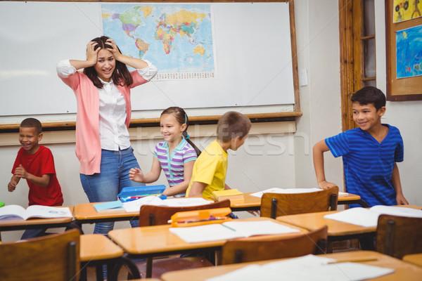 élèves conduite enseignants fou femme enfant Photo stock © wavebreak_media