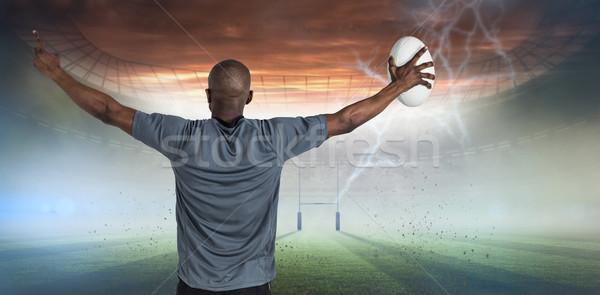 изображение вид сзади спортсмен Сток-фото © wavebreak_media