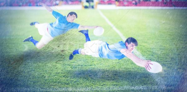 Imagen rugby jugador hierba deporte Foto stock © wavebreak_media