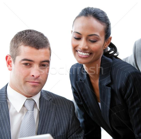Portrait souriant équipe commerciale affaires femme heureux Photo stock © wavebreak_media