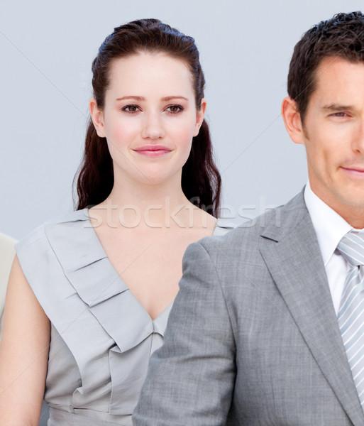 молодые Бизнес-партнеры Постоянный линия служба счастливым Сток-фото © wavebreak_media