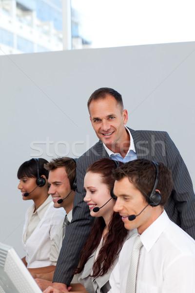 Сток-фото: менеджера · рабочих · команда · Call · Center · улыбаясь · бизнеса