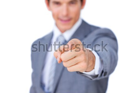 Close-up of a businessman pointing at the camera  Stock photo © wavebreak_media