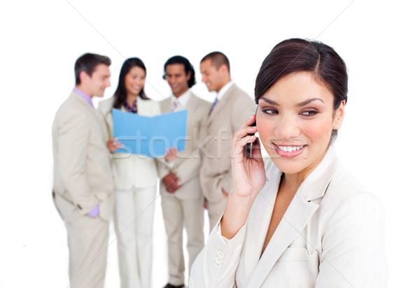 Portré elegáns üzletasszony telefon csapat telefon Stock fotó © wavebreak_media