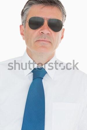 Atrakcyjny etnicznych biznesmen lornetki biały działalności Zdjęcia stock © wavebreak_media