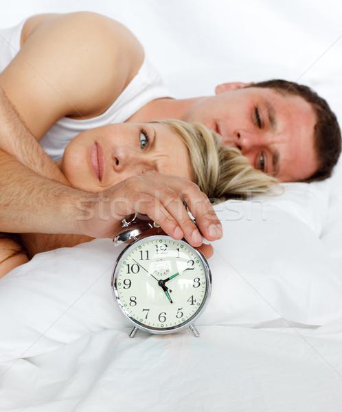 Coppia letto sveglia amore Foto d'archivio © wavebreak_media