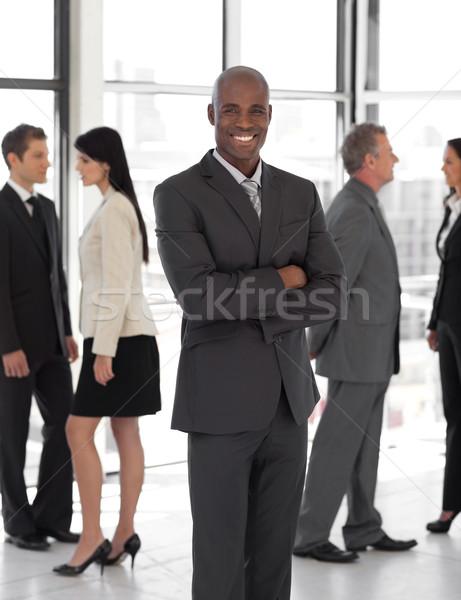 Uśmiechnięty etnicznych działalności liderem zespołu kobieta Zdjęcia stock © wavebreak_media