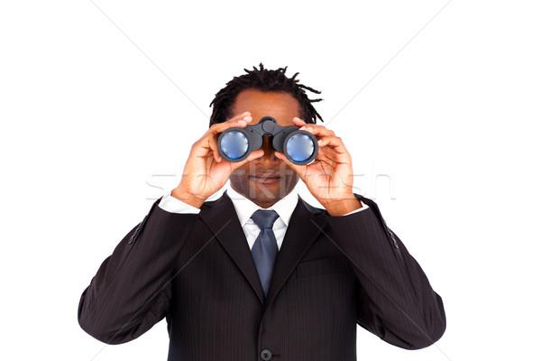Bello imprenditore binocolo business mano Foto d'archivio © wavebreak_media