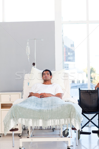 Young patient recovering in bed with copyspace Stock photo © wavebreak_media