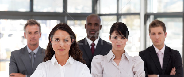 Portrait gens d'affaires regarder caméra bureau affaires Photo stock © wavebreak_media