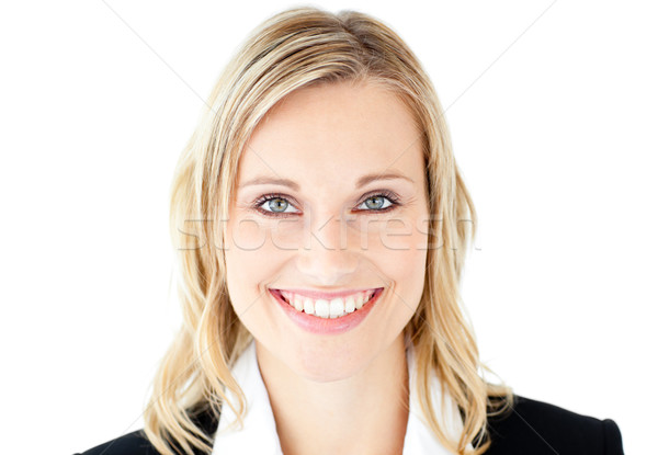 Portrait of a beautiful businesswoman smiling at the camera against a white background Stock photo © wavebreak_media