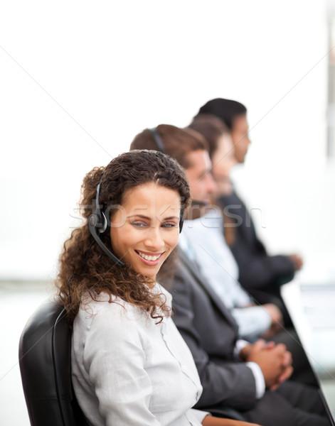 счастливым представитель коллеги рабочих Call Center вместе Сток-фото © wavebreak_media