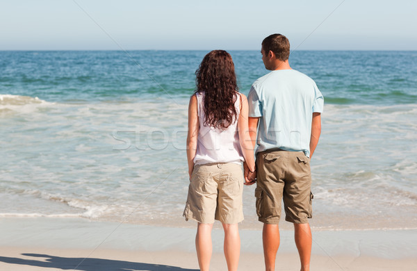 Lovers looking at the sea Stock photo © wavebreak_media
